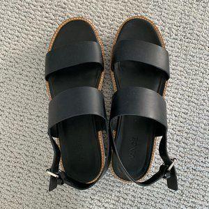 Vince Platform Black Sandals Size 8 1/2